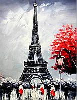 Алмазная вышивка на подрамнике Париж в цвету 40 х 50 см (арт. TN339)