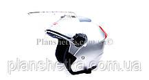 Мотошлем HF-858 металлик (открытый/белое стекло) LS6, фото 2