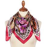 Волшебный мир 10017-5, павлопосадский платок шелковый (атласный) с подрубкой, фото 2