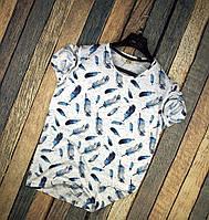 Мужская футболка летняя с принтом молодежная белая FTX в перо Турция. Живое фото. Топ качество