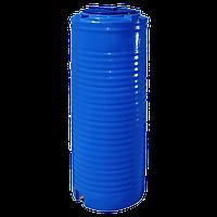 Бочка пластикова 300 л. вузька, вертикальна, двошарова