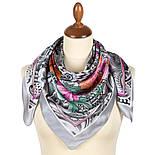 Чарівний мі 10017-2, павлопосадский платок шовковий (атласний) з подрубкой, фото 2