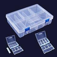 Органайзер пластиковая коробка для Arduino радиодеталей кейс 23*16, фото 3