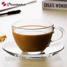 Стеклянный чайный сервиз Pasabahce Basic 215 мл