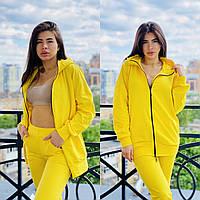 Удобный женский спортивный костюм ,цвет желтый,размеры с 40 по 56