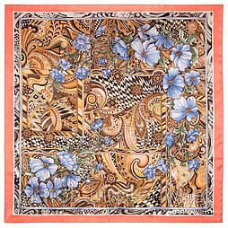 Чарівний світ 10017-3, павлопосадский платок шовковий (атласний) з подрубкой