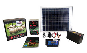 Электропастух с солнечной панелью аккумулятором