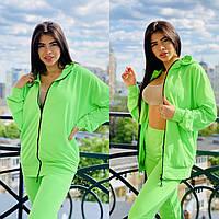 Удобный женский спортивный костюм ,цвет салат ,размеры с 40 по 56