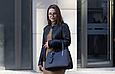 Деловая кожаная женская сумка Laura Biaggi (565) черная, фото 2