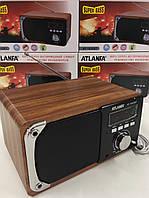Портативная акустическая колонка Atlanfa AT-1822ВТ,FM, 6W, Super Bass speaker AUX bluetoothMP3 microSD/TF