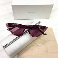 Женские солнцезащитные очки лисички Jimmy Сhoo реплика Розовые, фото 1