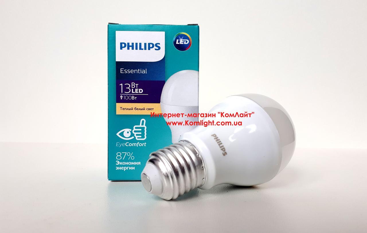 Лампа светодиодная PHILIPS ESS LEDBulb 13W E27 6500K 230V