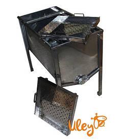 Стол для Распечатывания сот - 1 метр, 2 плоские корзины, толщина 0,8 мм