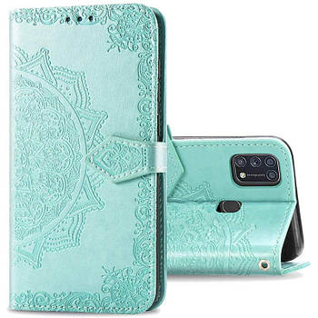 Кожаный чехол (книжка) Art Case с визитницей для Samsung Galaxy M31