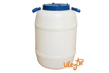 Бидон пищевой пластмассовый, 50 л. Горловина 220 мм. (сертифицированные)