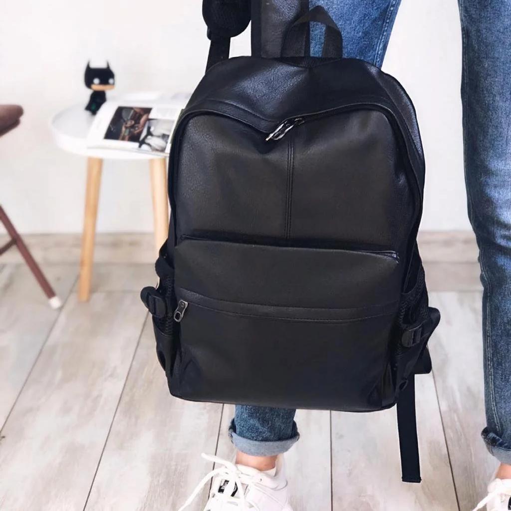 Мужской городской рюкзак из кожзама