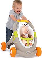 Ходунки-коляска для кукол Smoby Minikiss Animal Baby 3 в 1 210206