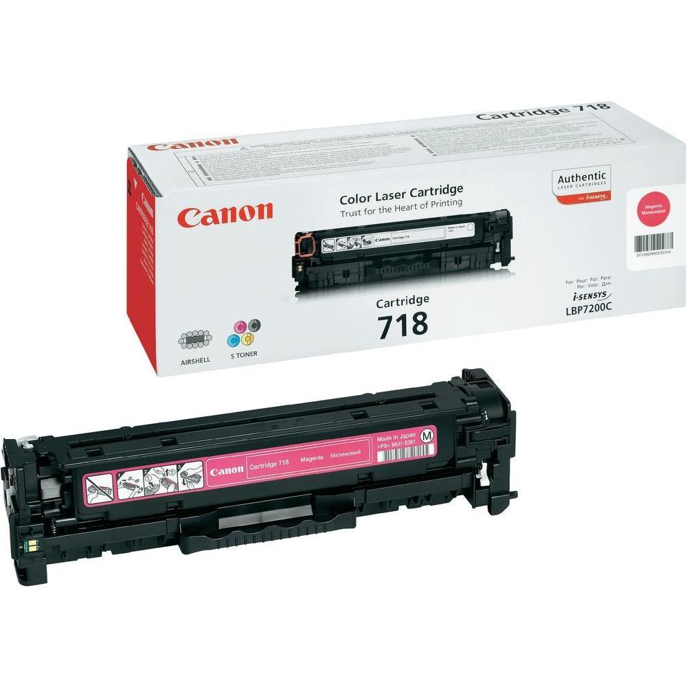 Тонер-картридж Canon 718 LBP-7200 MF-8330/8350 Magenta 2900 страниц