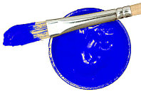 Заготовка для Бизиборда Краска СИНЯЯ Акриловая Эмаль - 2 мл Акрил Синий для Покраски Деревянных Деталей