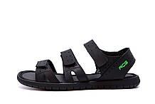Чоловічі шкіряні сандалі Nike ACG Black (репліка)