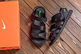 Мужские кожаные сандалии Nike ACG Black (реплика), фото 7