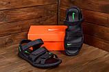 Мужские кожаные сандалии Nike ACG Black (реплика), фото 8