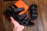 Мужские кожаные сандалии Nike ACG Black (реплика), фото 9