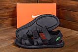 Мужские кожаные сандалии Nike ACG Black (реплика), фото 10
