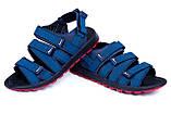 Мужские кожаные сандалии Nike Summer life blue (реплика), фото 3