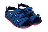 Мужские кожаные сандалии Nike Summer life blue (реплика), фото 4