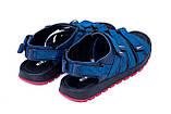 Мужские кожаные сандалии Nike Summer life blue (реплика), фото 6