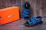 Мужские кожаные сандалии Nike Summer life blue (реплика), фото 7