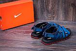 Мужские кожаные сандалии Nike Summer life blue (реплика), фото 9