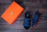 Мужские кожаные сандалии Nike Summer life blue (реплика), фото 10