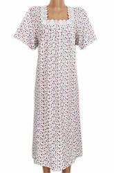 Длинная ночная сорочка женская домашняя (ночнушка) трикотажная хлопок