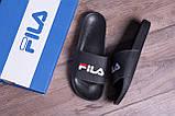 Чоловічі шкіряні літні шльопанці FILA black, фото 10
