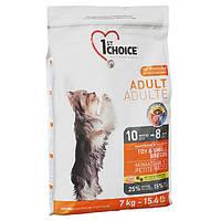 Сухой корм для взрослых собак мини и малых пород 1st Choice Adult Toy&Small КУРИЦА, 7 кг