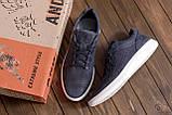 Мужские кожаные летние кроссовки, перфорация, фото 10