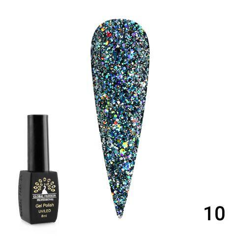 Гель лак Diamond Ball #10 Global Fashion 8мл