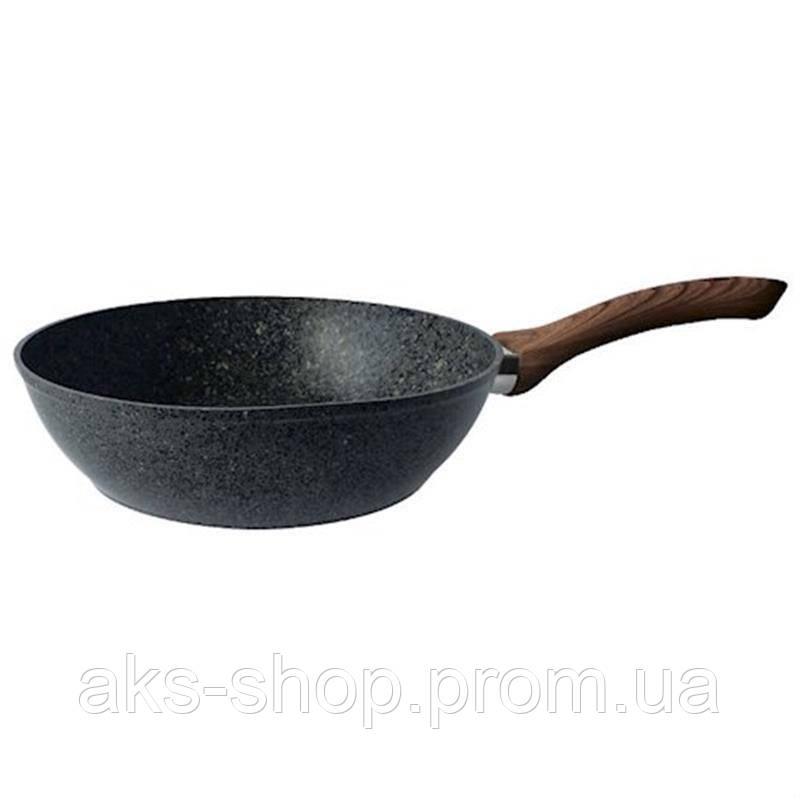 Сковорода с антипригарным покрытием 24 см GUSTO GT-2103-24  |сковородка Gusto, сотейник Густо
