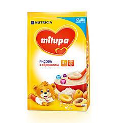 Каша молочна Milupa Рисова з абрикосом, 5+, 210г