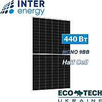 Солнечные батареи InterEnergy IE158-72M-H-440W, 9BB, Half Cell, монокристалл