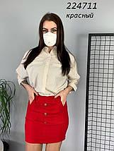Летняя женская короткая юбка/ fv-224711, разные цвета, S-L, фото 3