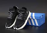 Чоловічі кросівки в стилі Adidas Nite Jogger BLACK найт джоггер (Репліка ААА+), фото 2