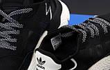Чоловічі кросівки в стилі Adidas Nite Jogger BLACK найт джоггер (Репліка ААА+), фото 6