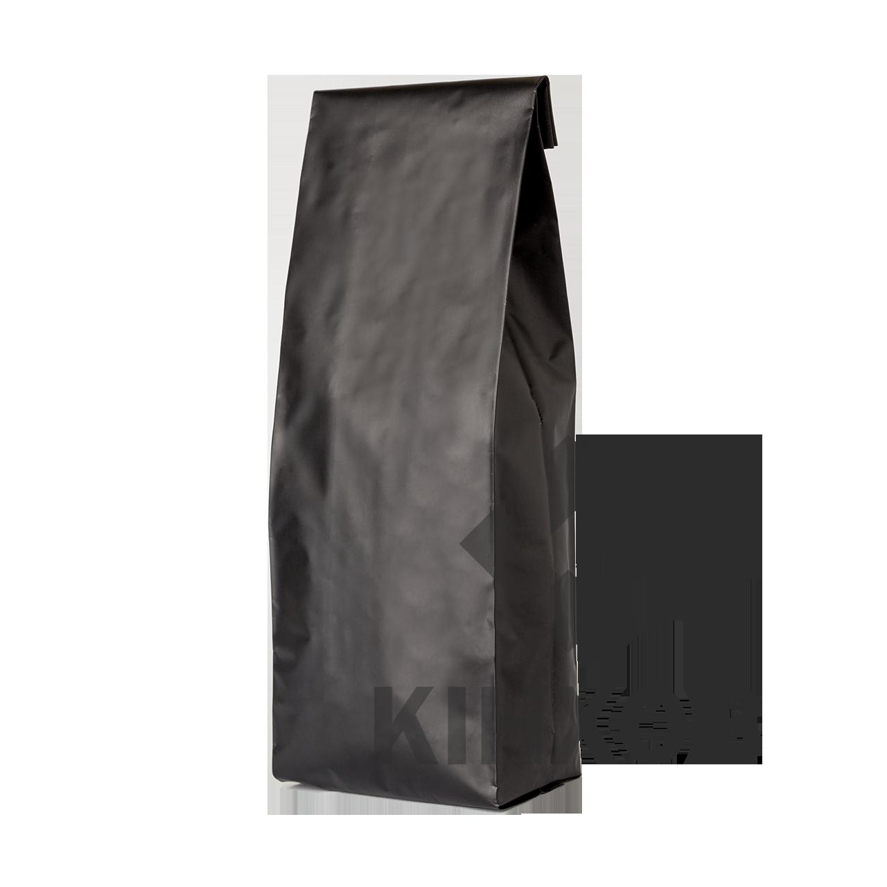 Пакет з центральним швом 65*200 ф (20+20) чорний