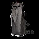 Пакет з центральним швом 65*200 ф (20+20) чорний, фото 2