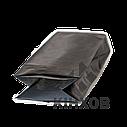 Пакет з центральним швом 65*200 ф (20+20) чорний, фото 3