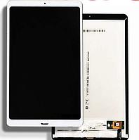 LCD Дисплей Модуль Экран для Xiaomi Mi Pad 4 Plus + touchscreen, белый, со шлейфом сканера отпечатка пальца