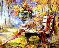 Алмазная вышивка на деревянном подрамнике Осенний парк 40 х 50 см (арт. TN265)
